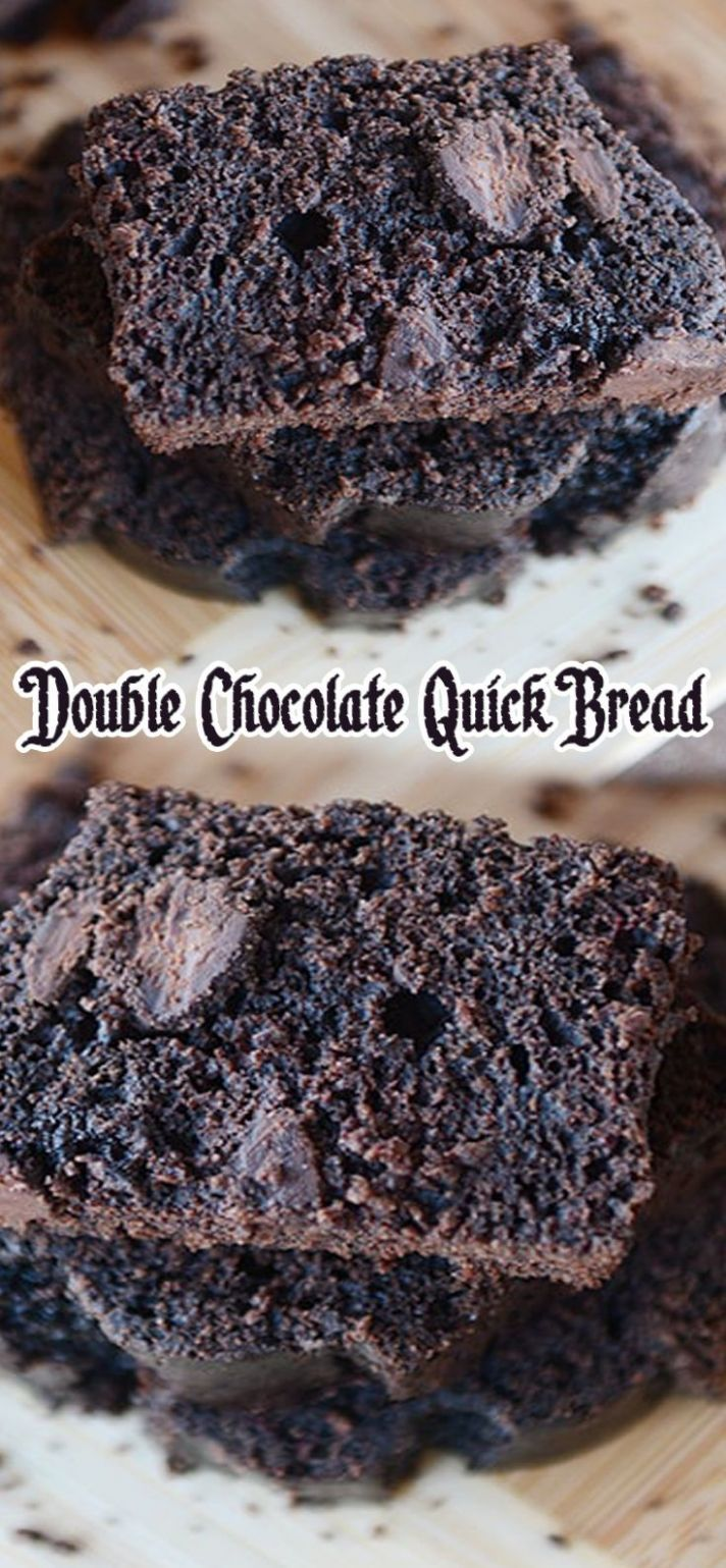 Double Chocolate Quick Bread | Chocolate quick, Chocolate bread ..