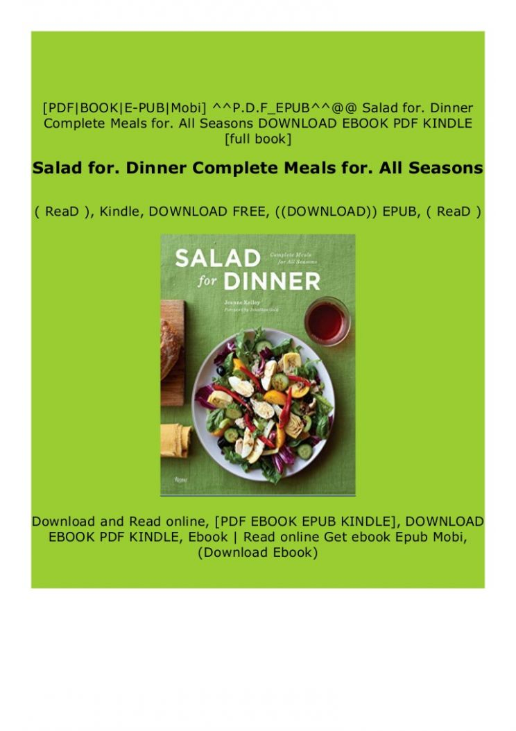 Download_[P.d.f]^^@@ Salad for. Dinner Complete Meals for
