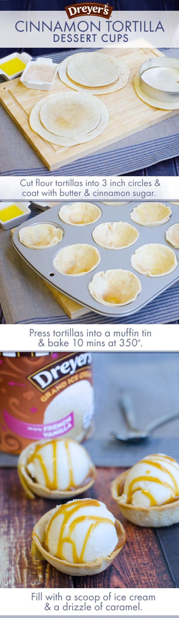 Dreyer's Cinnamon-Tortilla Dessert Cups