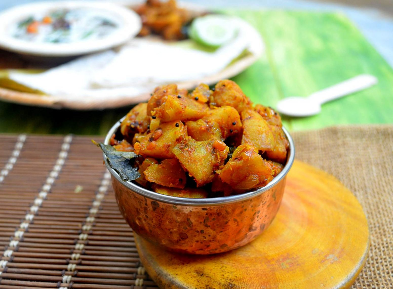 Dry Sweet Potato Thoran Recipe - Potato Recipes Kerala