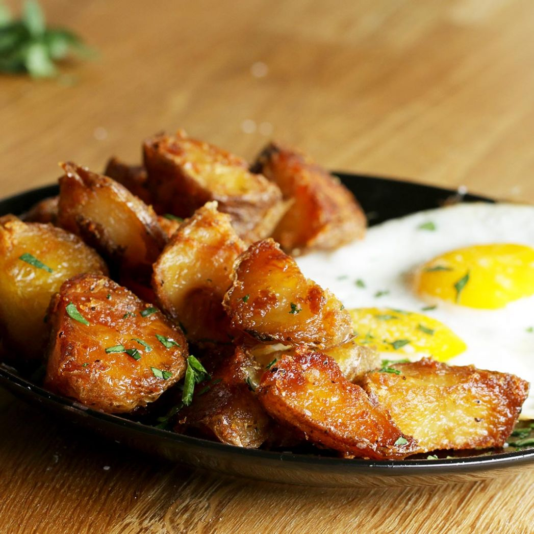 Easily The Best Garlic Herb Roasted Potatoes Recipe by Tasty - Potato Recipes Russet