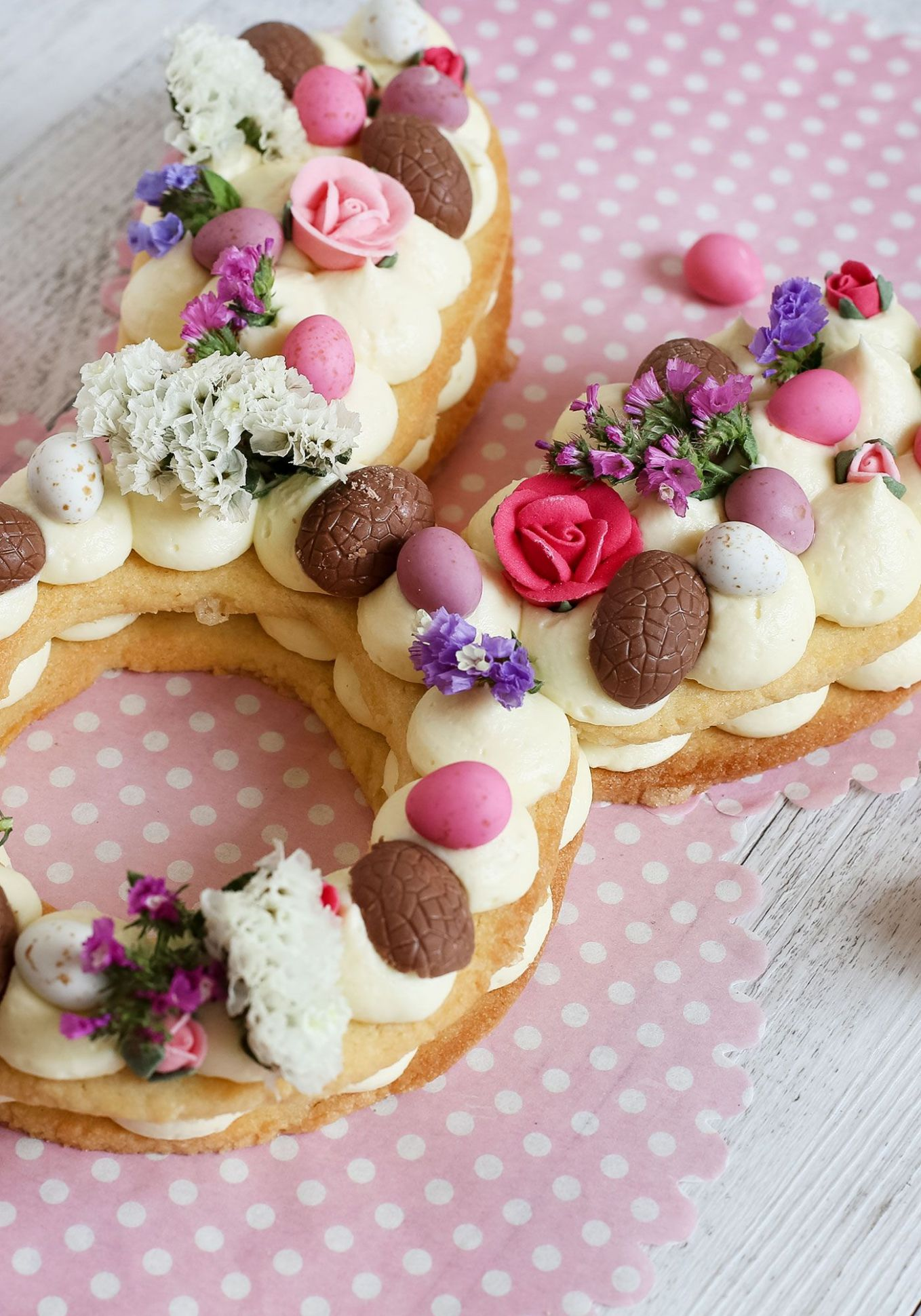 Easter Bunny Cream Tart - Dessert Recipes For Easter