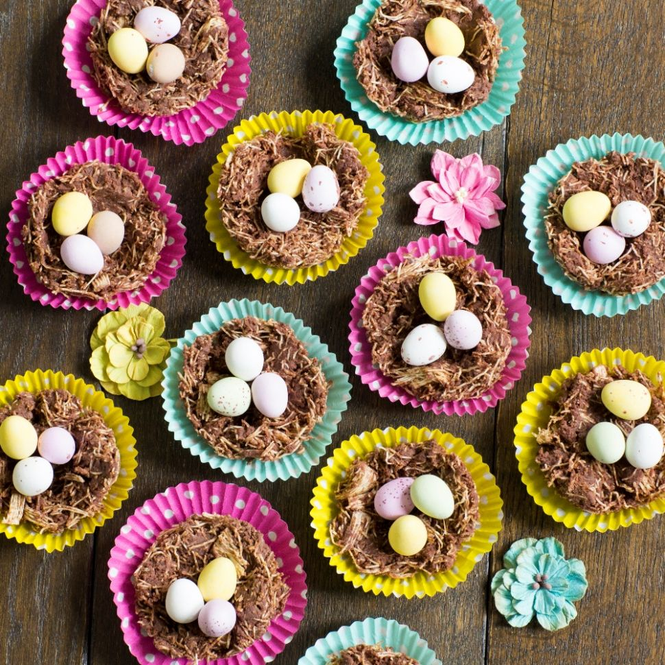 Easter Chocolate Nests - Recipe Chocolate Easter Nests
