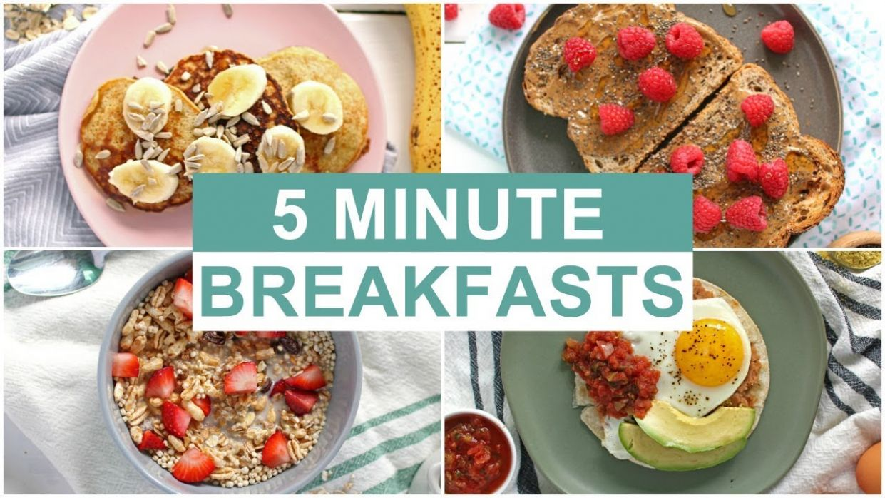 EASY 12 Minute Breakfast Recipes | Healthy Breakfast Ideas