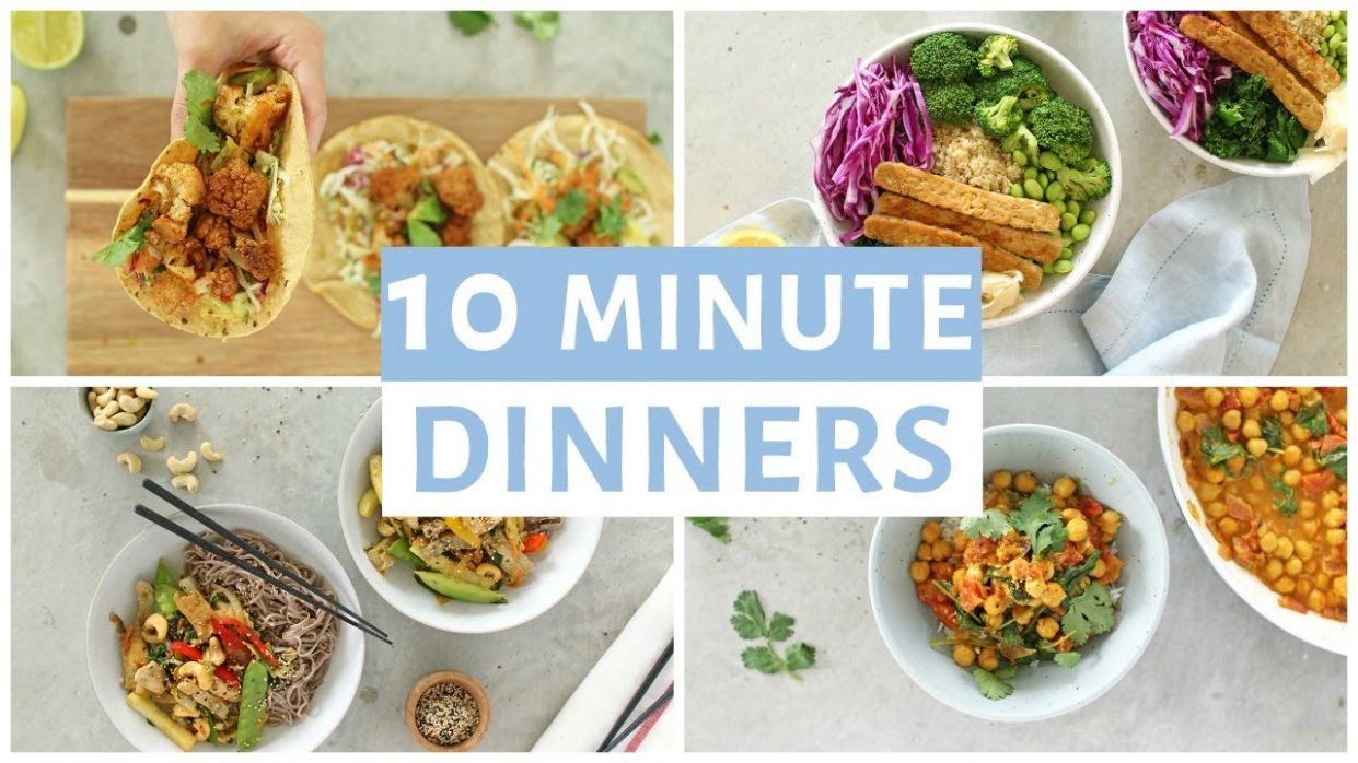 EASY 12 Minute Dinner Recipes | Healthy Dinner Ideas