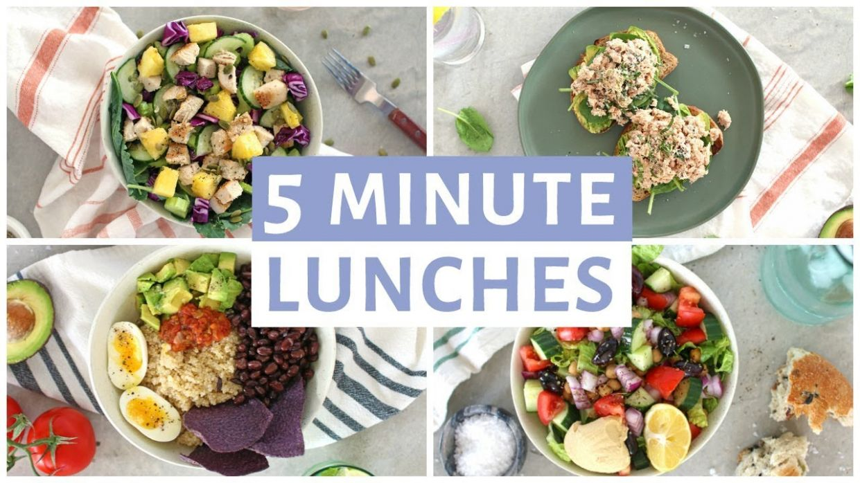 EASY 12 Minute Lunch Recipes | Healthy Lunch Ideas - Healthy Recipes Lunch