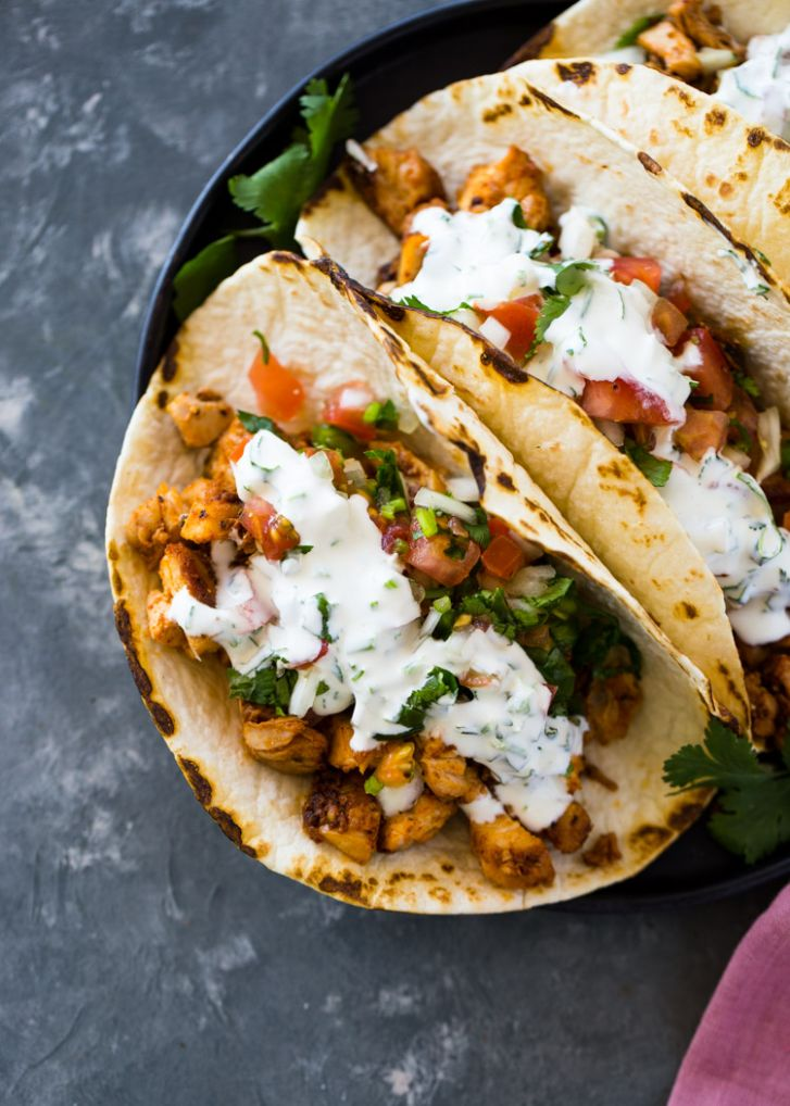 Easy 9 Minute Chicken Tacos