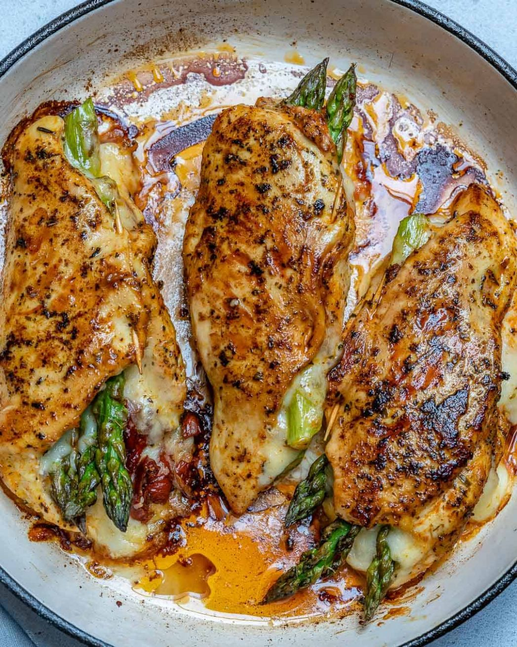Easy Asparagus Stuffed Chicken Breast Recipe | Healthy Fitness Meals