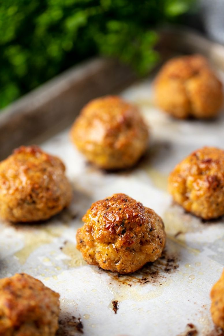 Easy Baked Chicken Meatballs - Easy Recipes Ground Chicken
