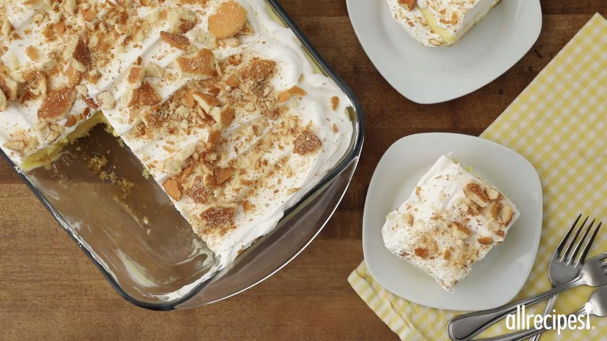 Easy Banana Pudding Cake - Dessert Recipes Allrecipes