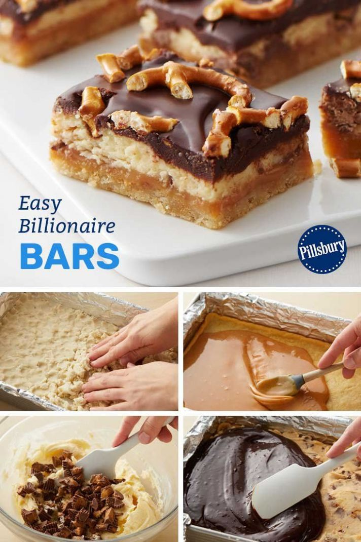 Easy Billionaire Bars - Dessert Recipes Kosher