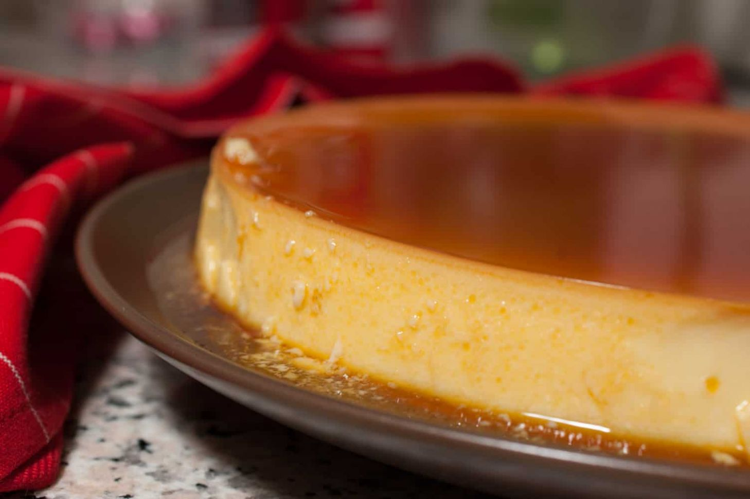 Easy Brazilian Flan with condensed milk