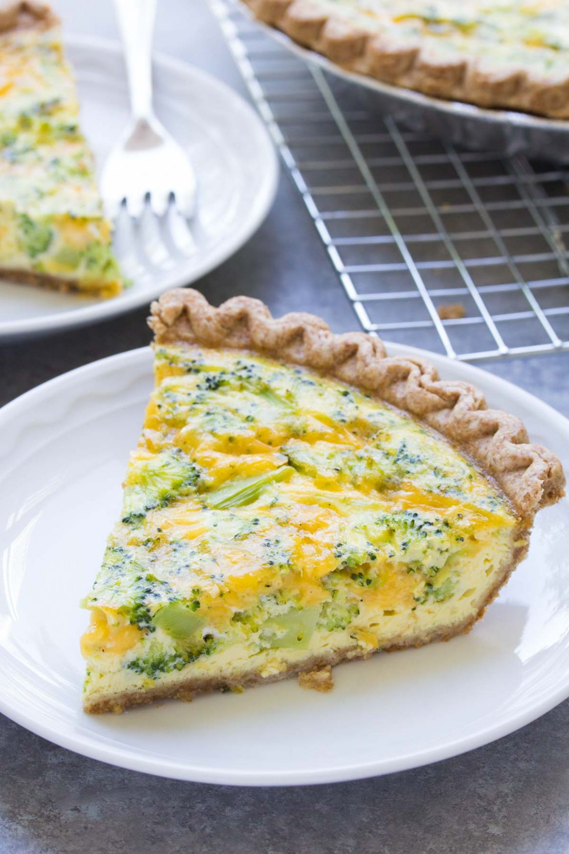 Easy Broccoli Cheese Quiche (11 Ingredients)