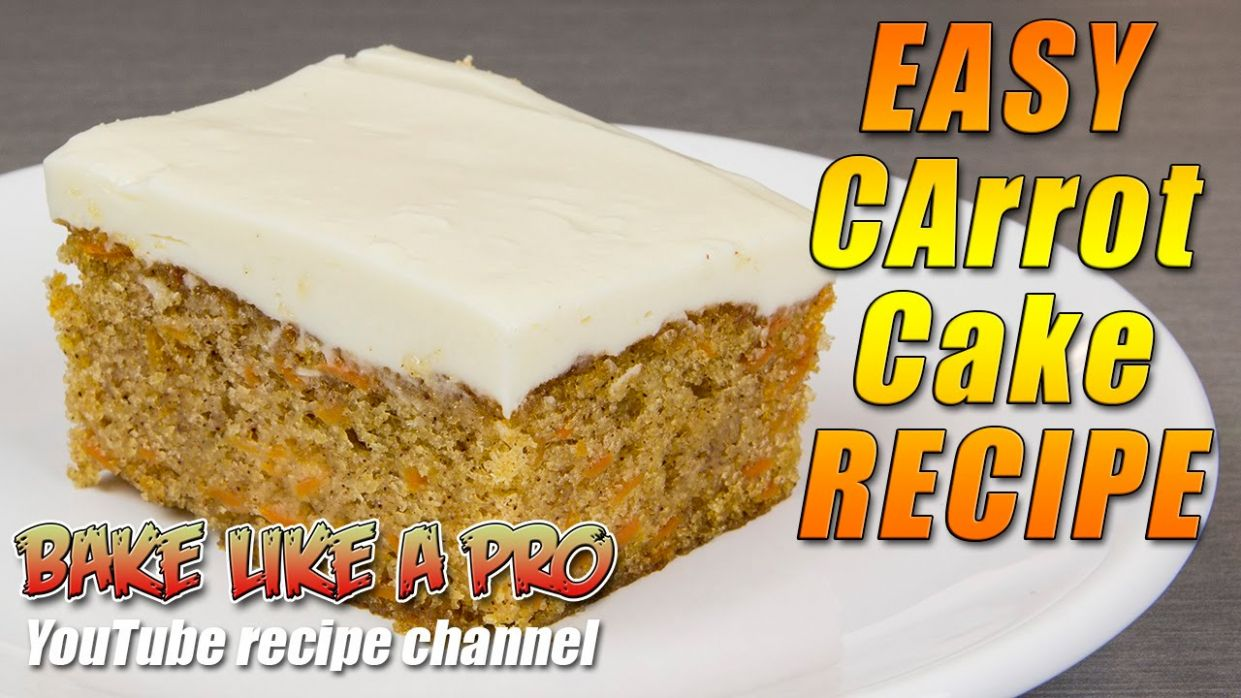 Easy Carrot Cake Recipe - Simply THE BEST !