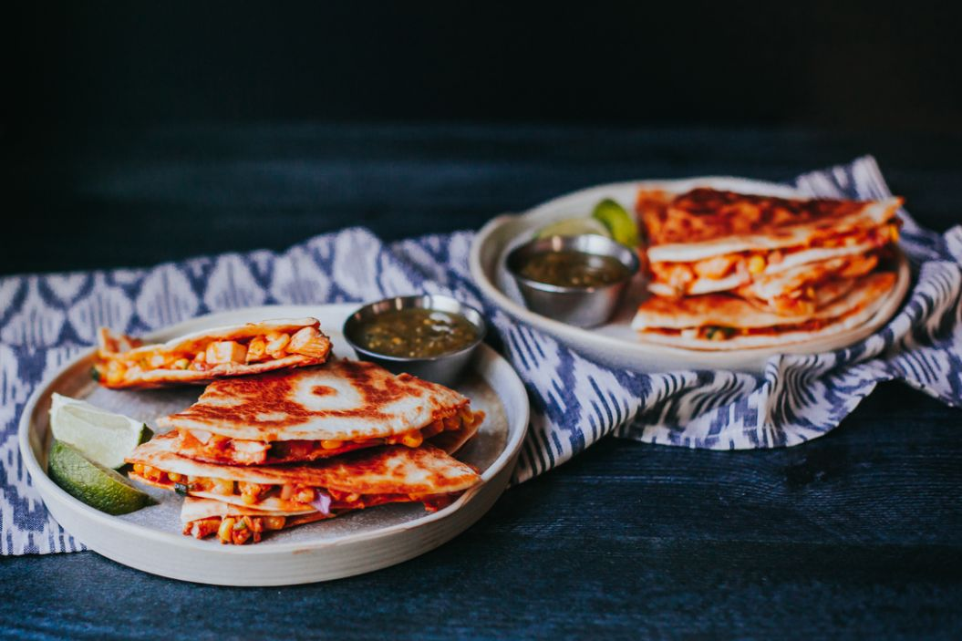 Easy Cheesy Summer Chicken Quesadilla