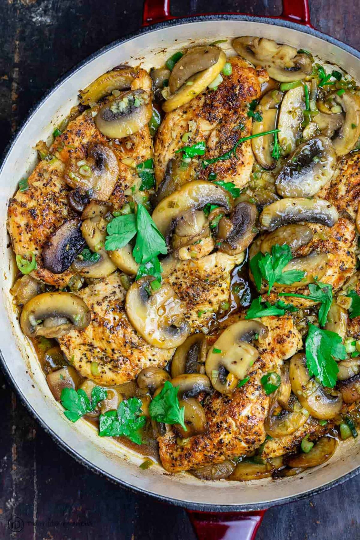 Easy Chicken and Mushroom Recipe | The Mediterranean Dish - Recipe Chicken Breast Kale Mushrooms