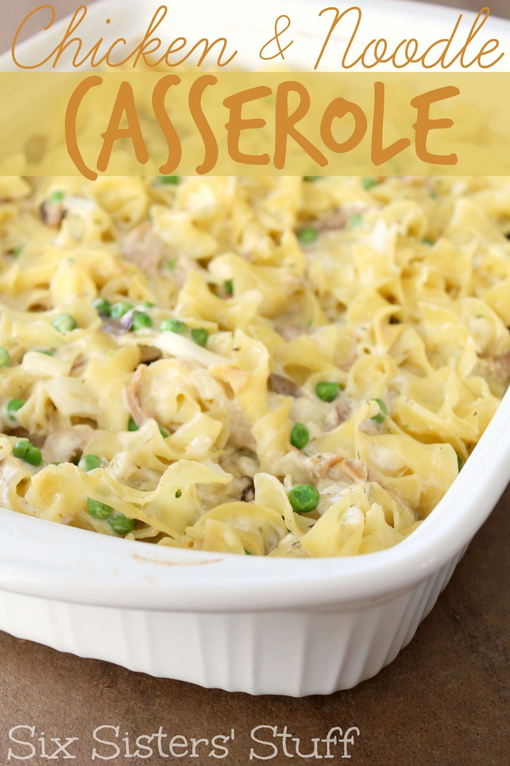 Easy Chicken and Noodle Casserole - Recipes Chicken Noodle Casserole