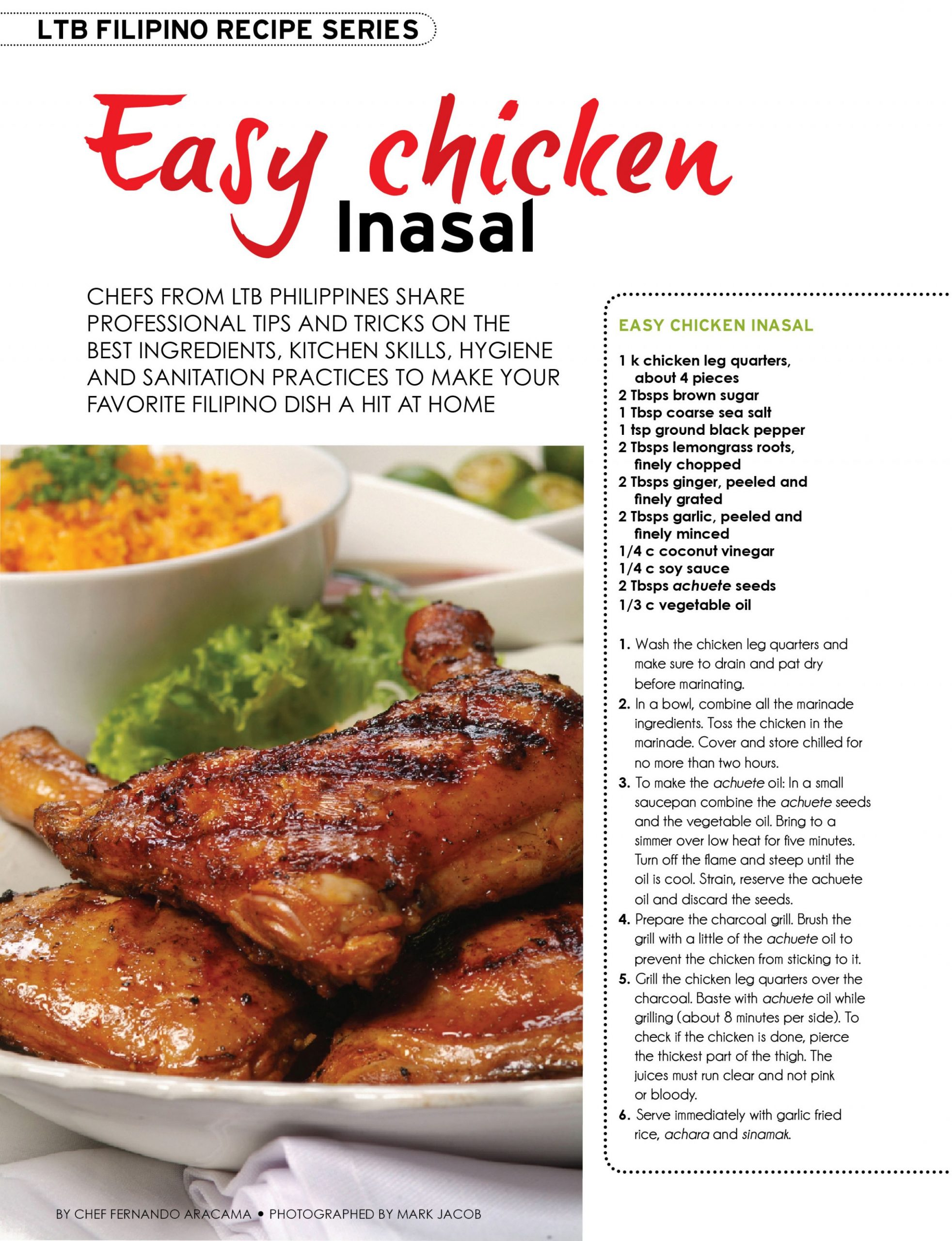Easy Chicken Inasal Recipe | LTB Chefs Phils