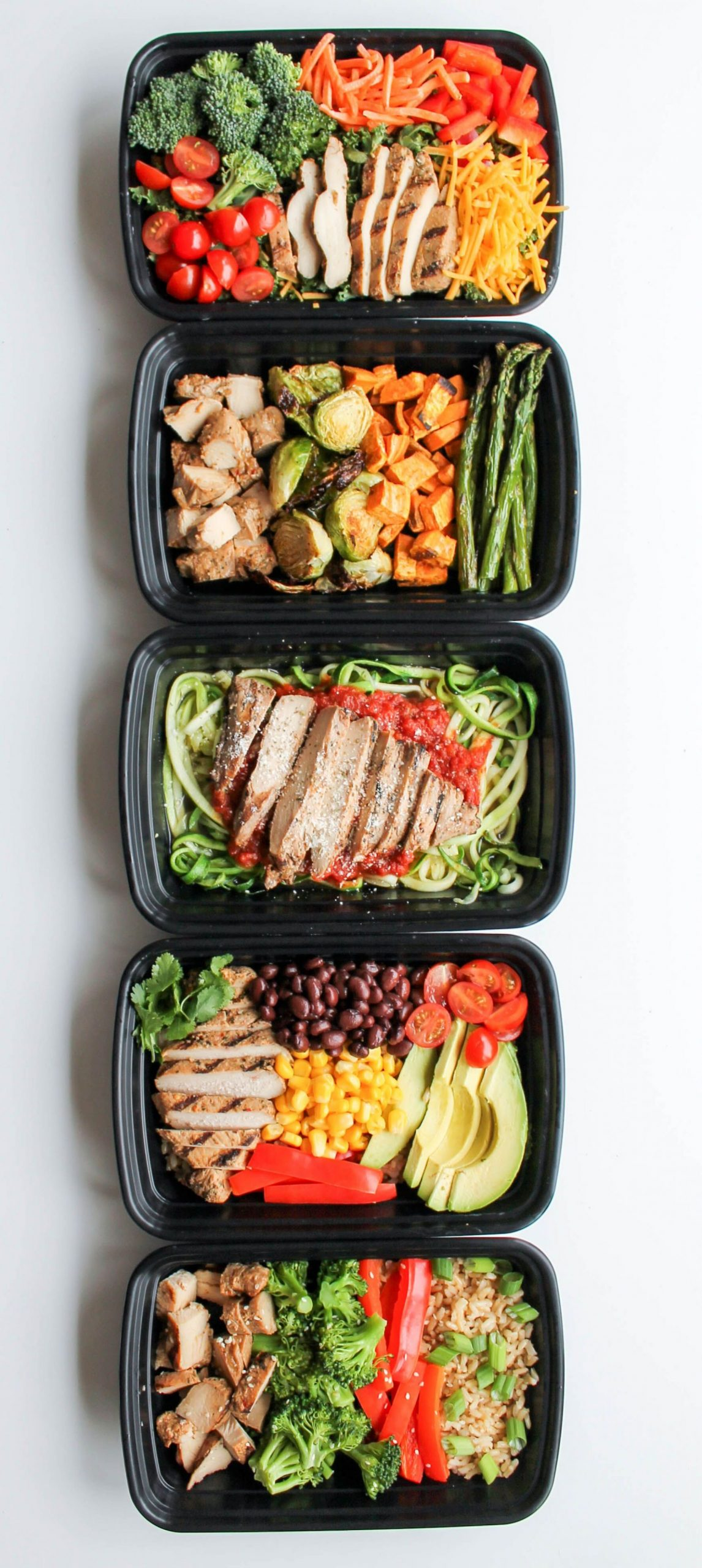 Easy Chicken Meal Prep Bowls: 11 Ways | Chicken meal prep, Meal ...