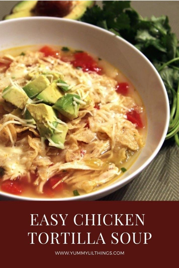 Easy Chicken Tortilla Soup | Chicken tortilla soup, Food recipes ...