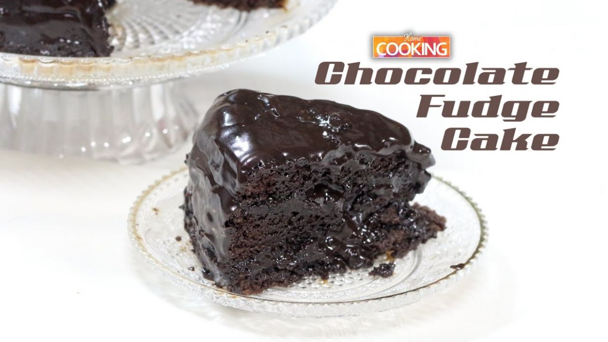 Easy Chocolate Fudge Cake | How To Make Chocolate Fudge Cake Recipe