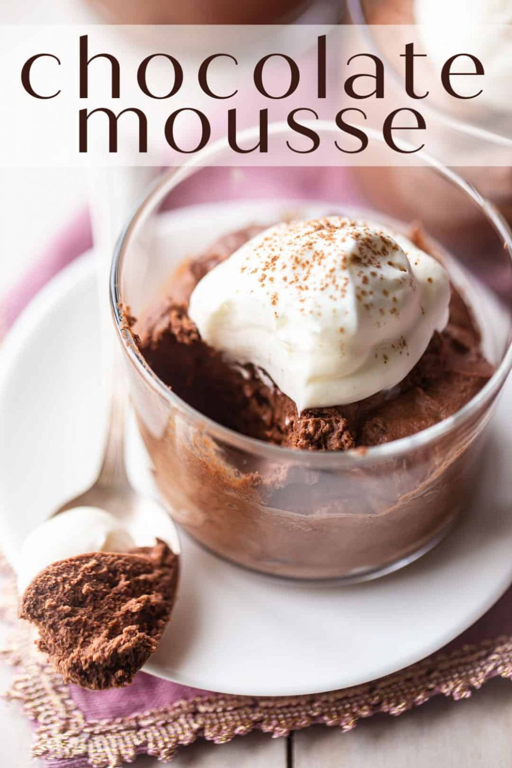 Easy Chocolate Mousse Recipe- Made in 8 minutes! -Baking a Moment