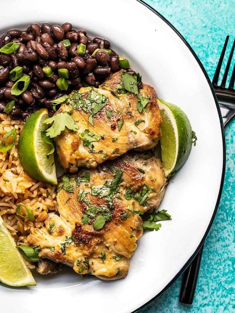 Easy Cilantro Lime Chicken - Budget Bytes - Summer Recipes Chicken Thighs