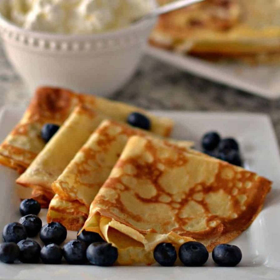 Easy Crepe Recipe - Breakfast Recipes Crepes