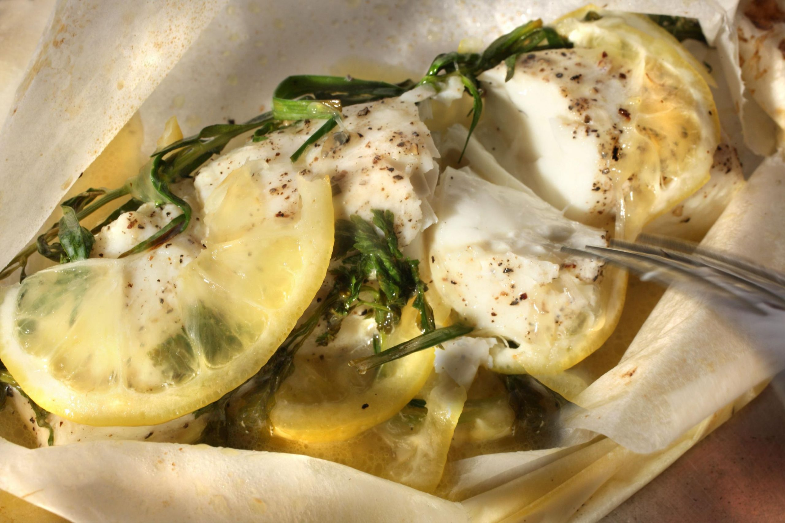 Easy Fish Baked in Parchment