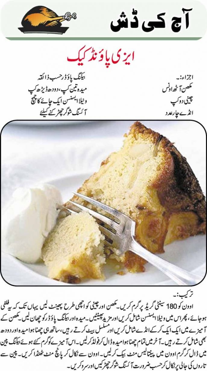 easy food recipes in urdu - Google Search | Pound cake recipes ..