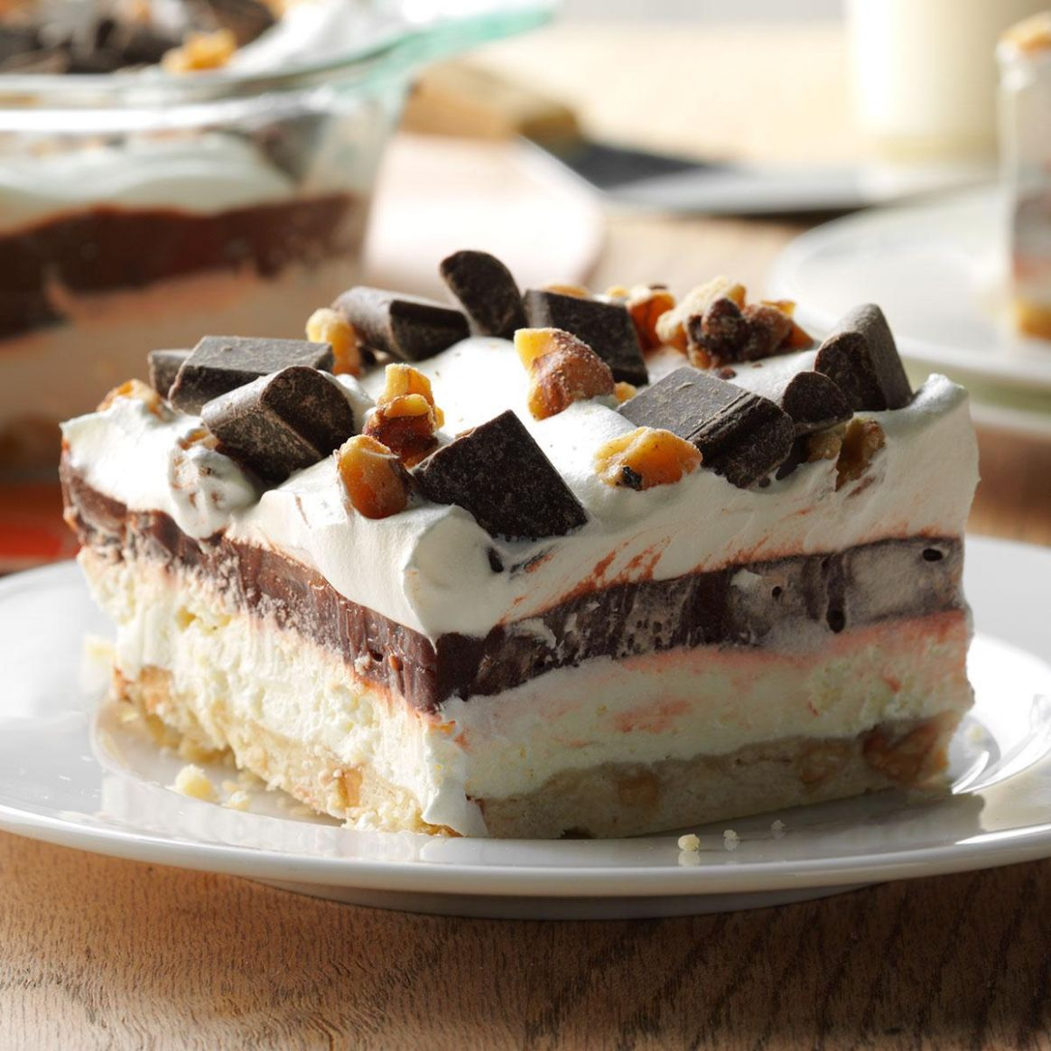 Easy Four-Layer Chocolate Dessert - Recipes Desserts Easy