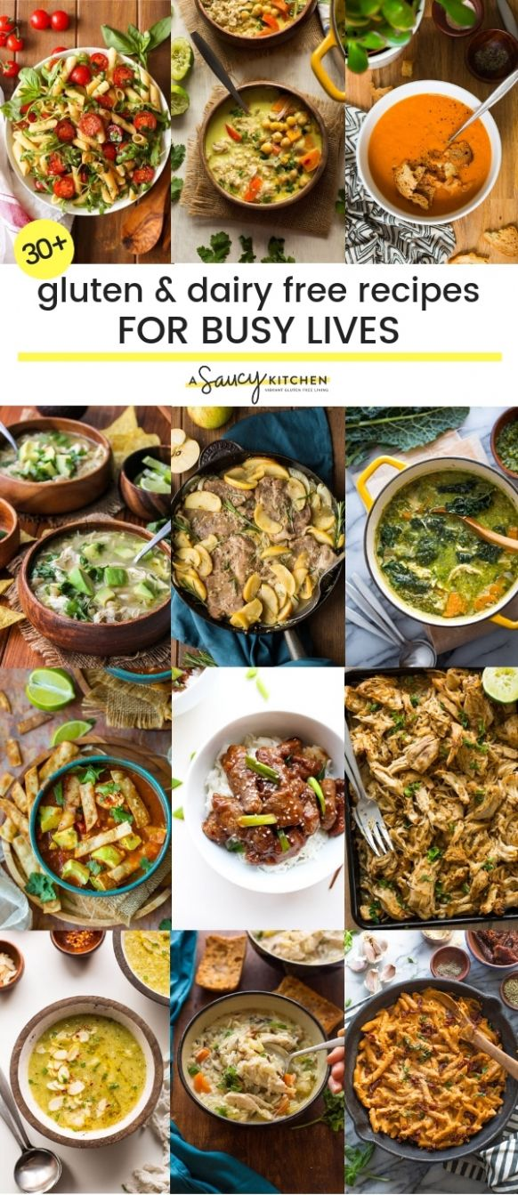 Easy Gluten and Dairy Free Recipes For Busy Lives - A Saucy Kitchen