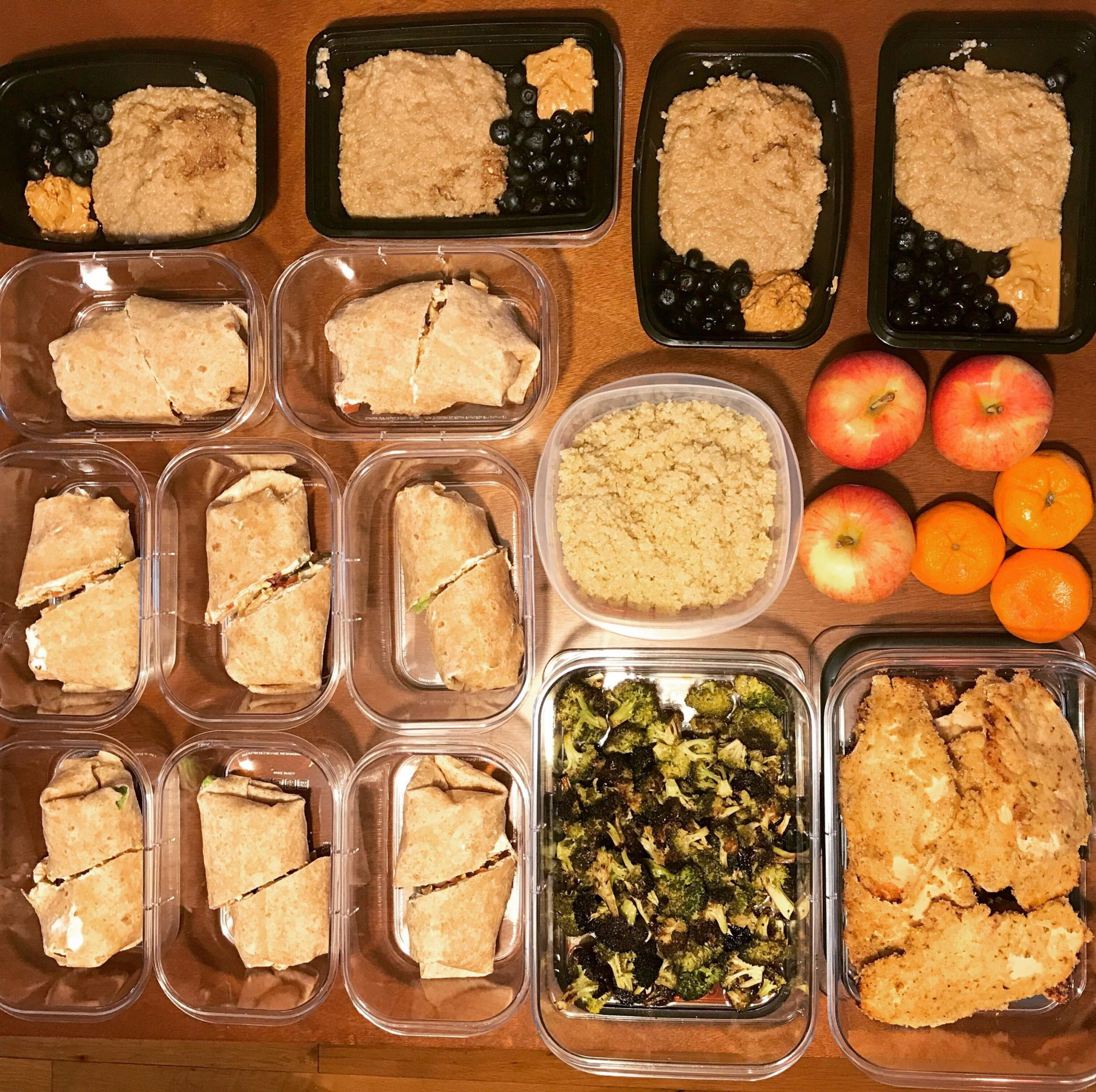 Easy, healthy and quick meal prep! Recipe in comments ...