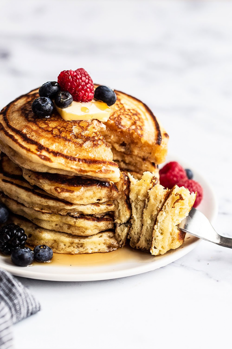 Easy homemade buttermilk pancakes - we make these every Sunday ..
