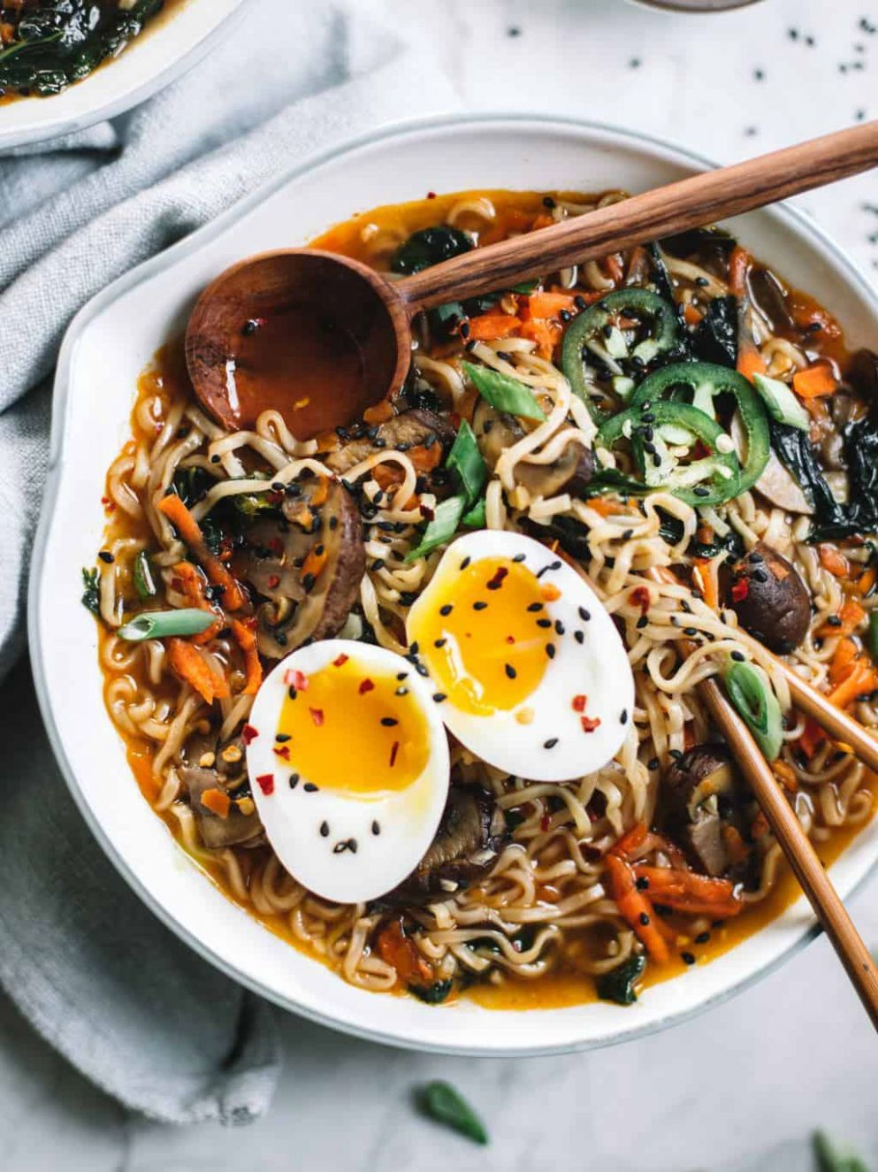 Easy Homemade Healthy Ramen Bowl - College Housewife - Healthy Recipes Ramen Noodles