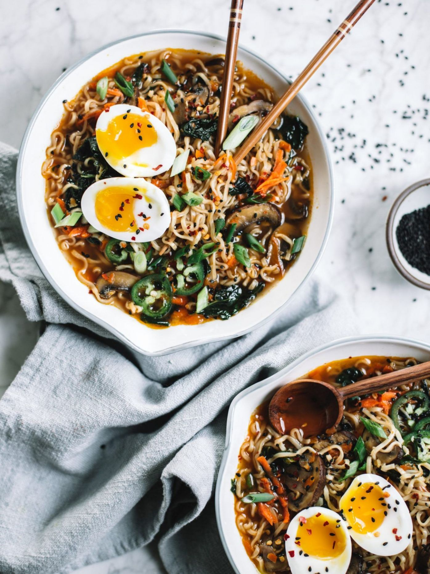 Easy Homemade Healthy Ramen Bowl - Healthy Recipes Ramen Noodles
