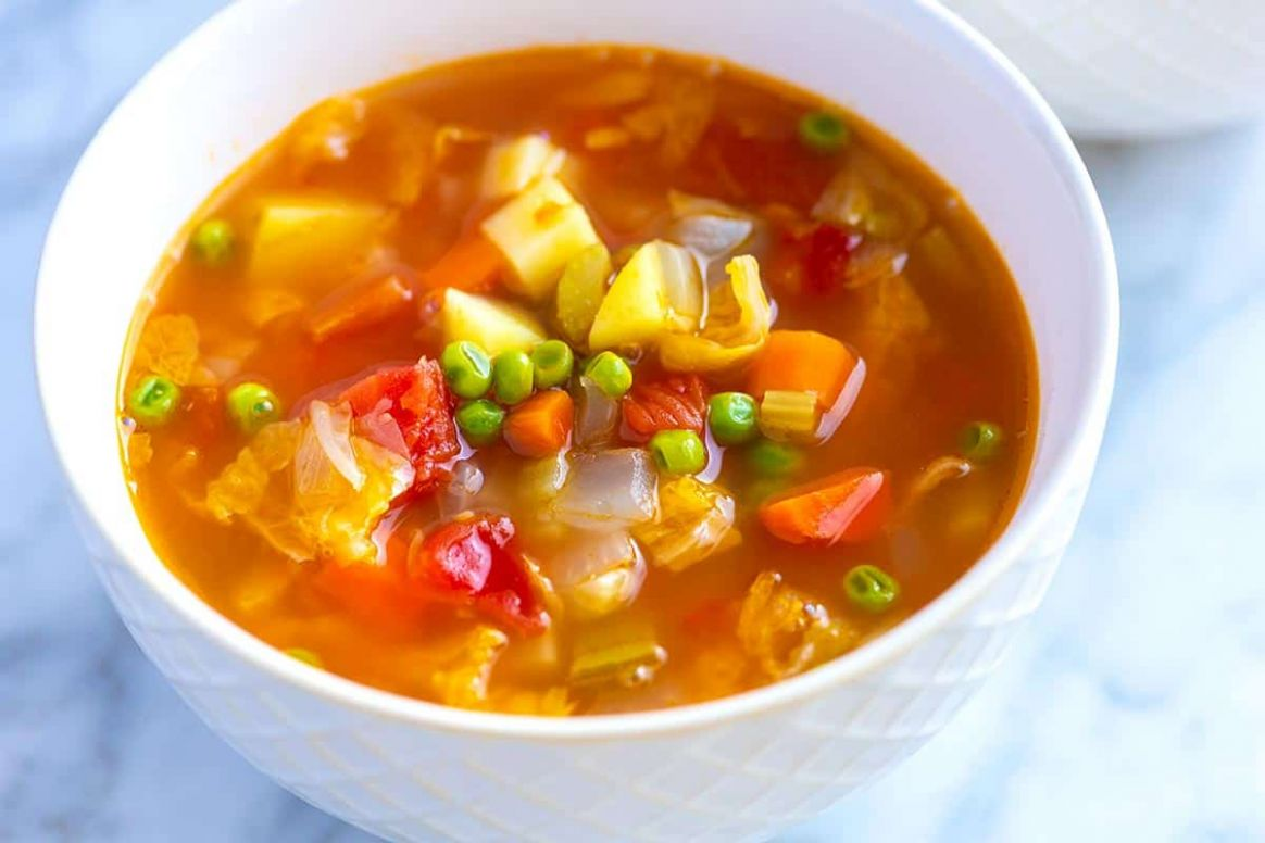 Easy Homemade Vegetable Soup - Soup Recipes Quick And Easy