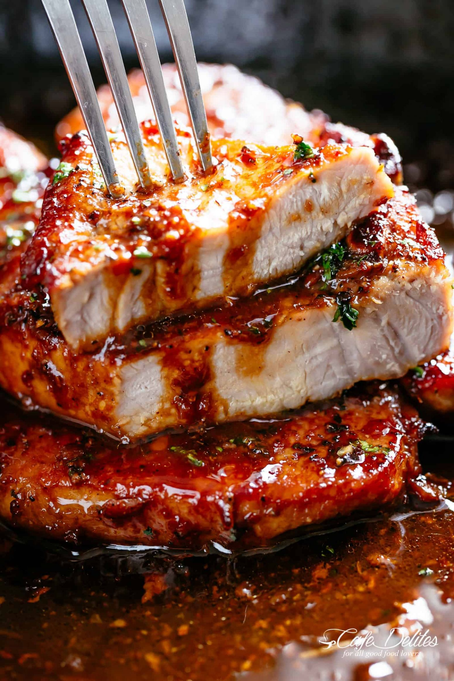 Easy Honey Garlic Pork Chops - Cafe Delites - Recipes Pork Loin Chops