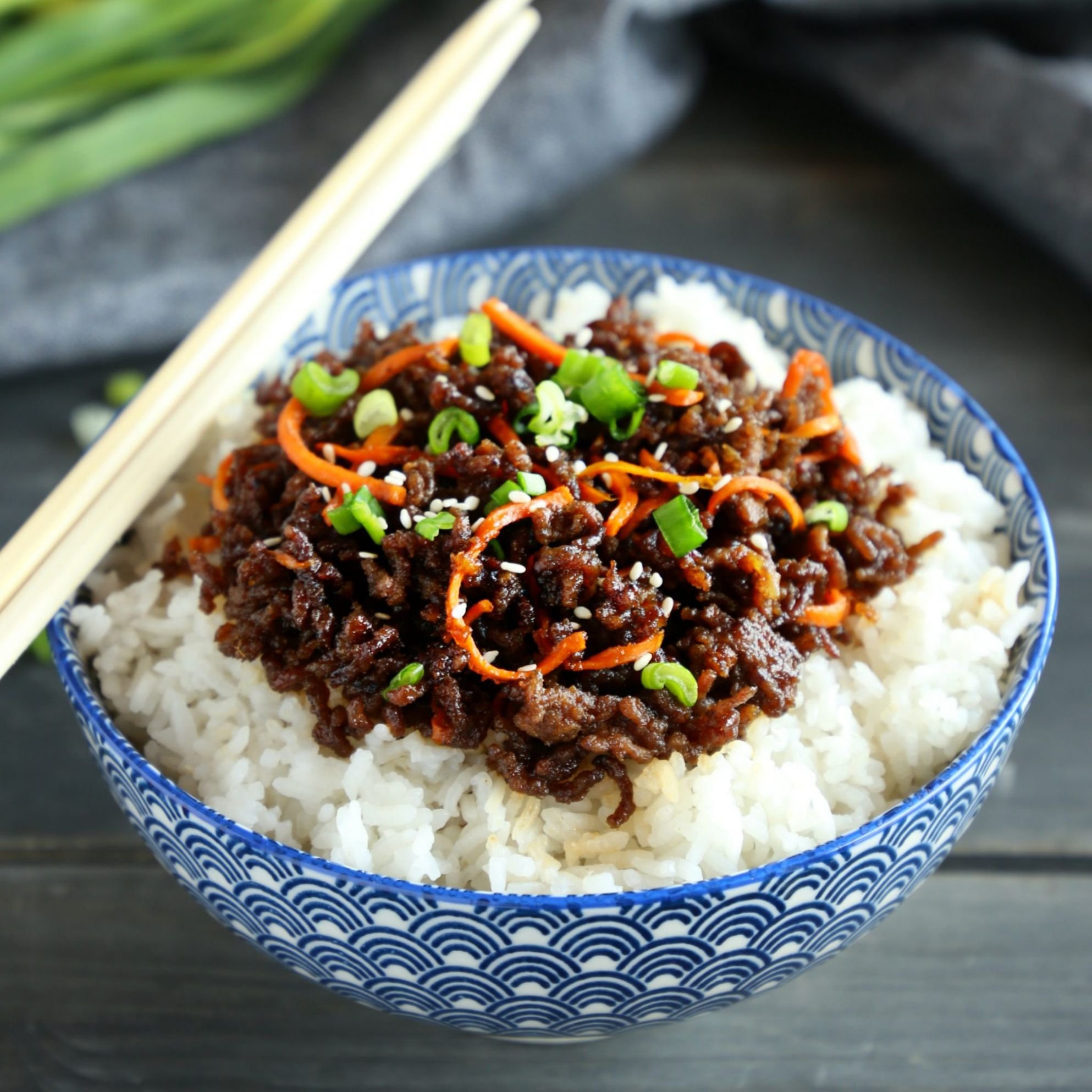 Easy Korean Beef Rice Bowls - Recipes Beef And Rice