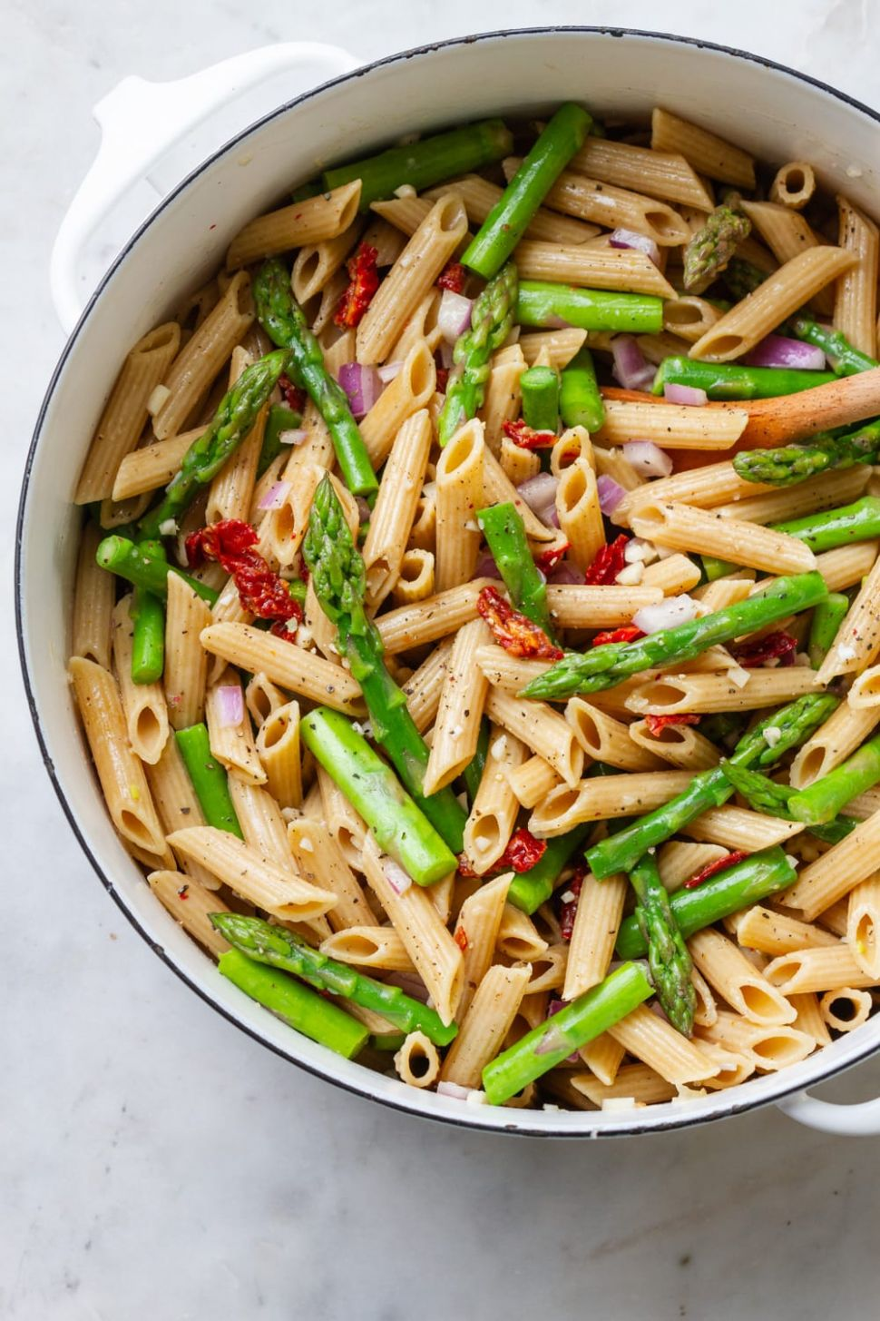EASY LEMONY ASPARAGUS PASTA SALAD - Recipes Pasta Asparagus