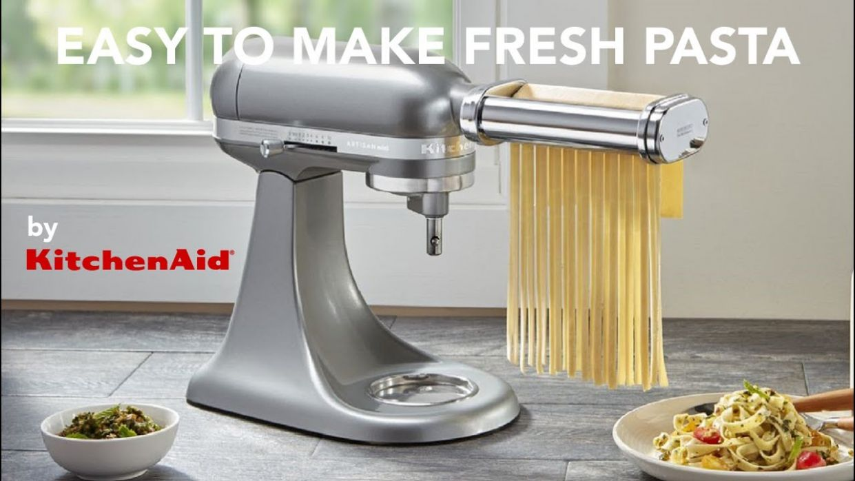 Easy made fresh pasta using the KitchenAid Pasta Attachments