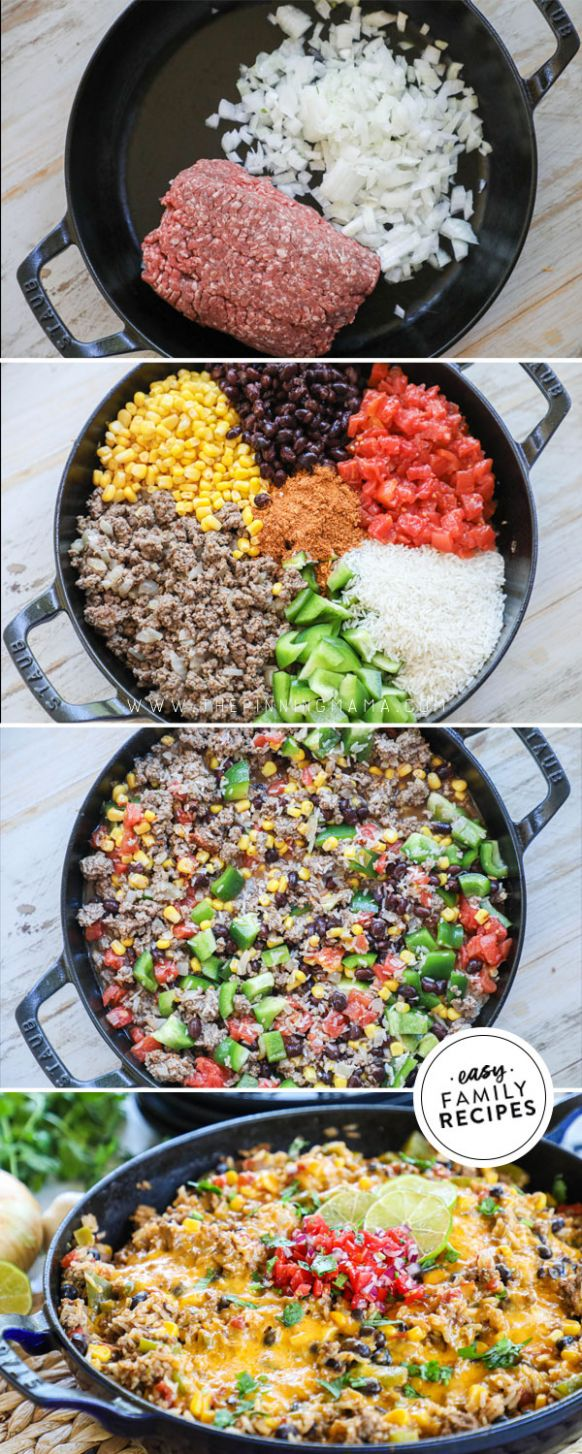 Easy Mexican Ground Beef and Rice · Easy Family Recipes - Simple Recipes Ground Beef
