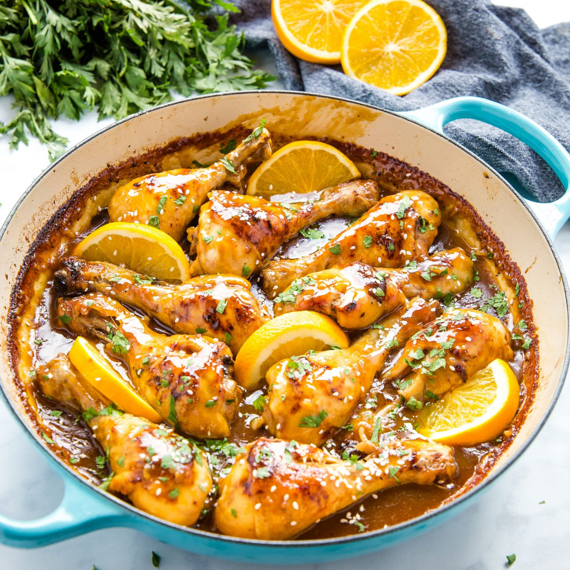 Easy One Pan Orange Ginger Chicken - Recipes Chicken Ginger