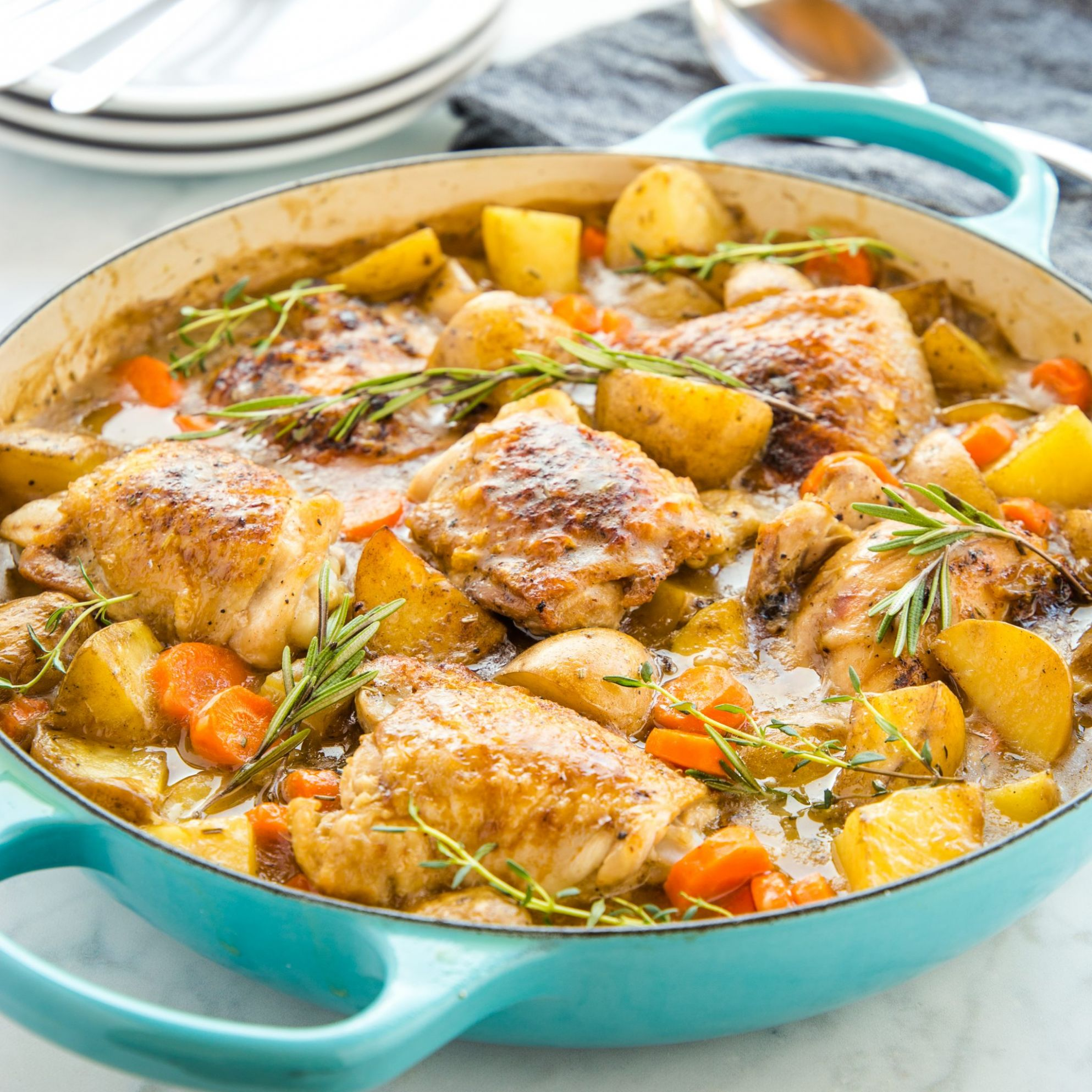 Easy One Pot Roasted Chicken Dinner - Food Recipes Chicken
