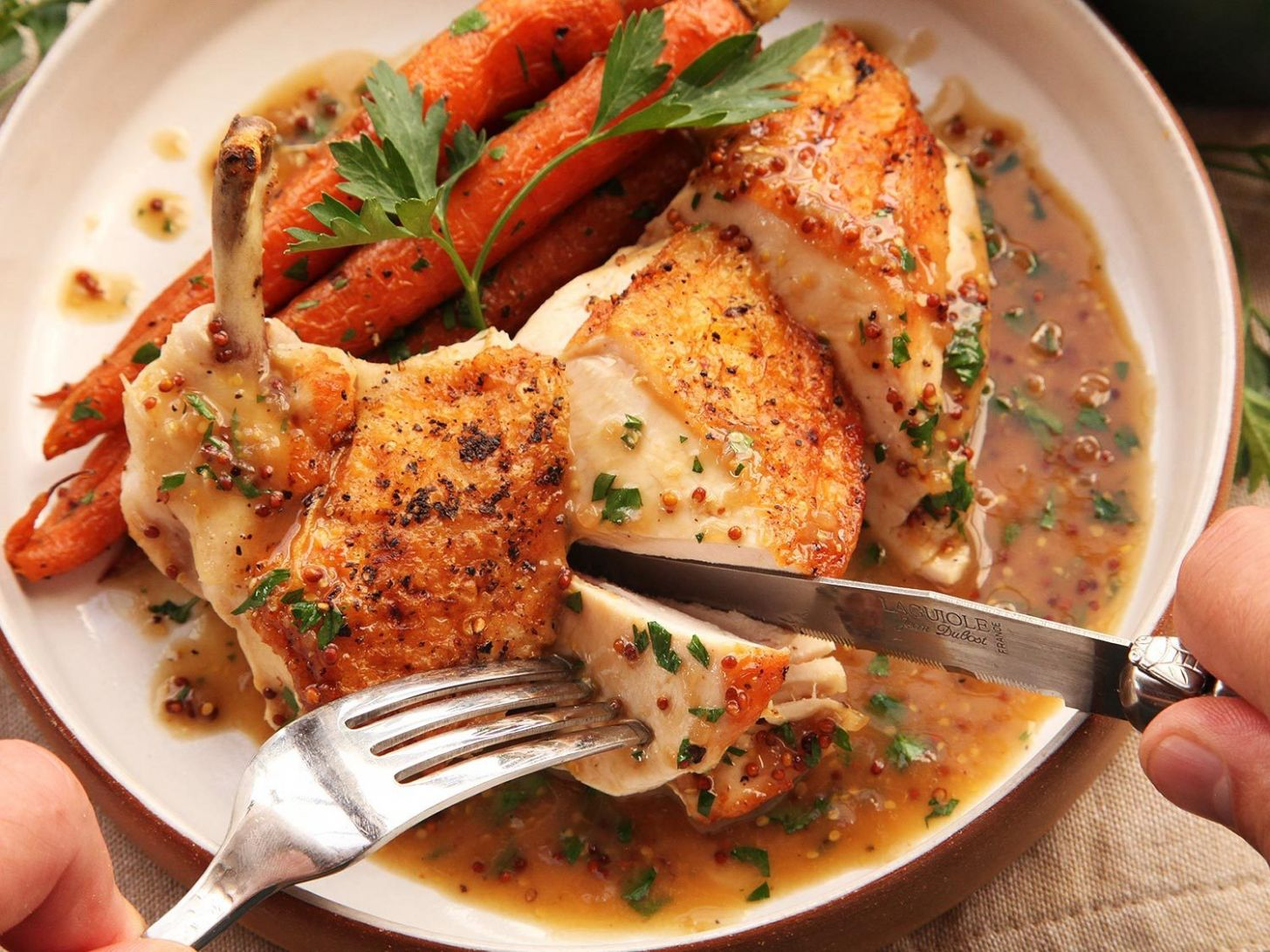 Easy Pan-Roasted Chicken Breasts With Bourbon-Mustard Pan Sauce Recipe - Recipes Roast Chicken Breast