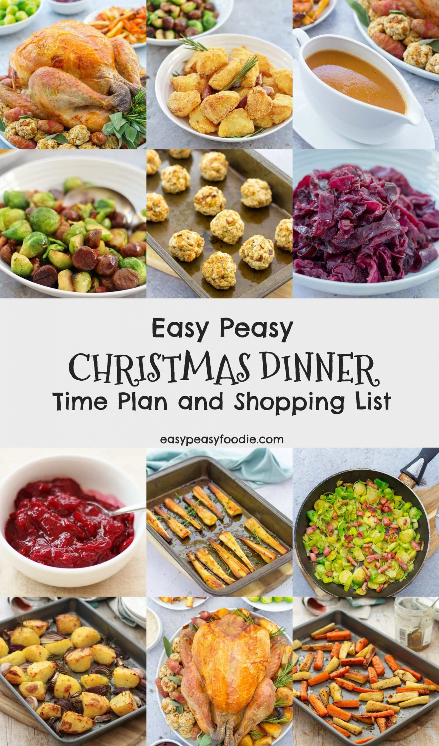 Easy Peasy Christmas Dinner Time Plan and Shopping List - Easy ..
