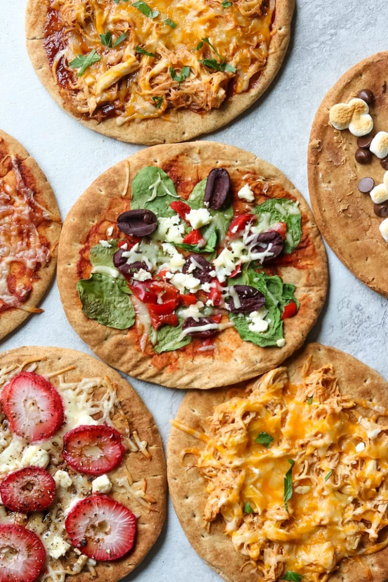 "Easy Pita Bread Pizza (10 Creative Variations) -- A Mind ""Full"" Mom"