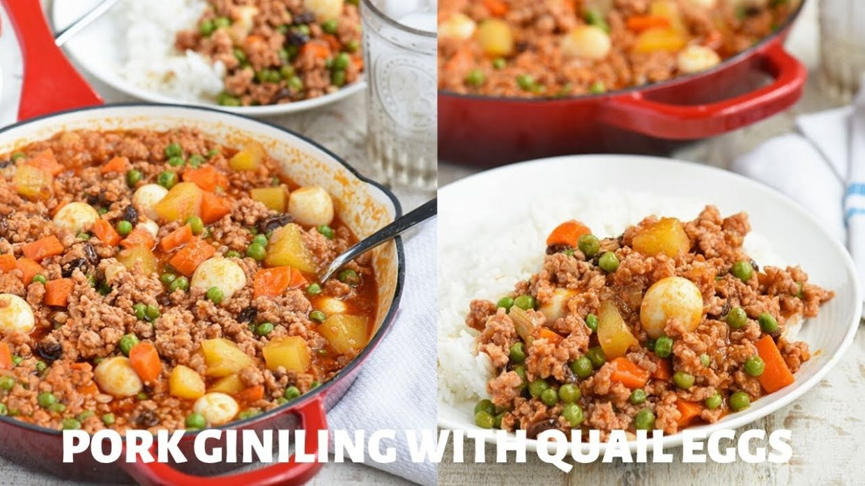 Easy Pork Giniling with Quail Eggs - Kawaling Pinoy - Recipe Pork Giniling With Egg
