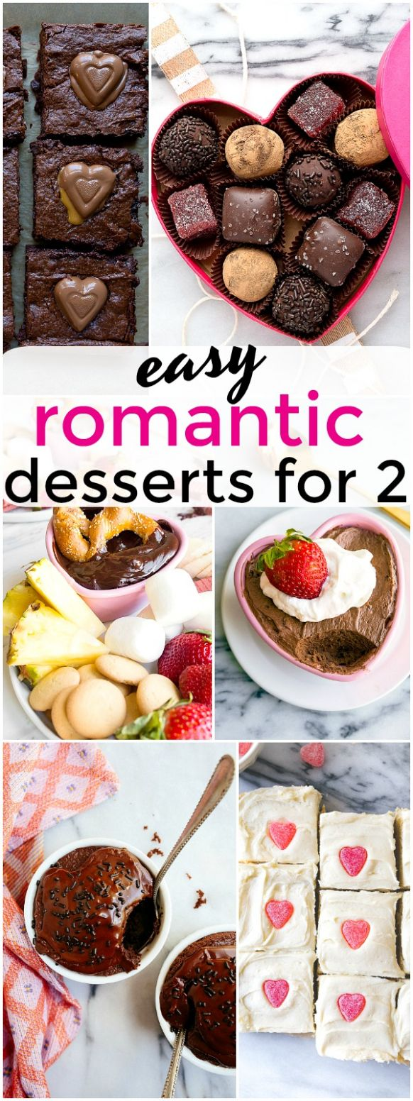 Easy Romantic Desserts for Two People on Valentine's Day