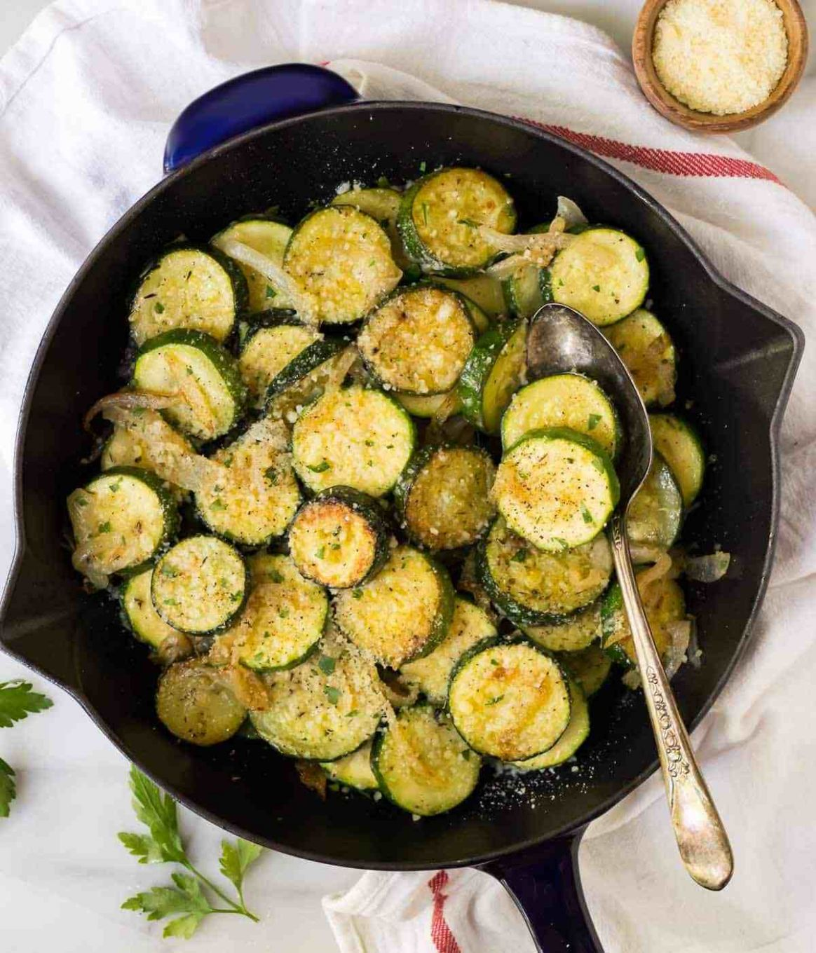 Easy Sautéed Zucchini with Parmesan - Vegetable Recipes Zucchini